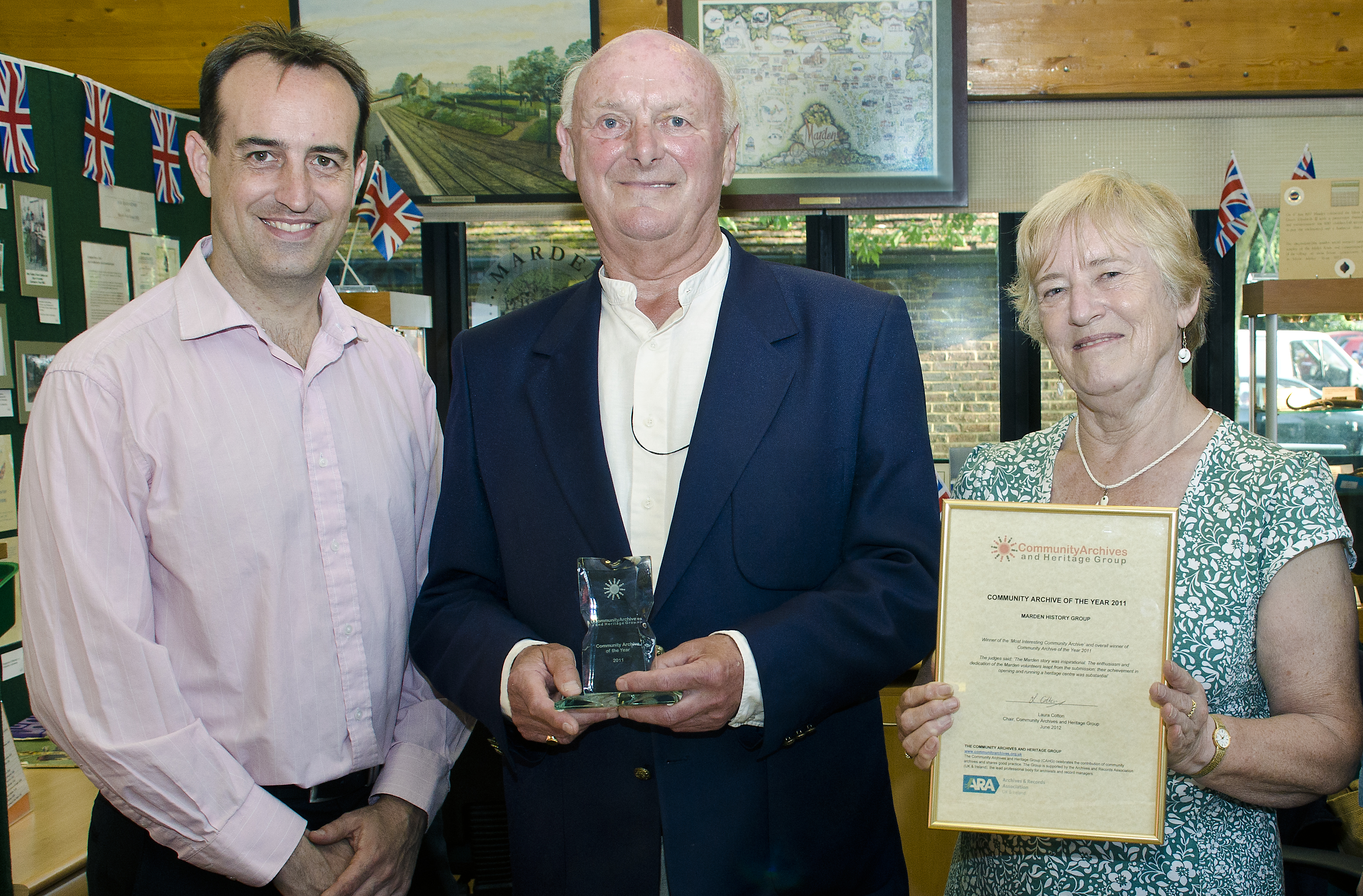 'Inspirational' Kent Village Wins  Community Archive of the Year 2011
