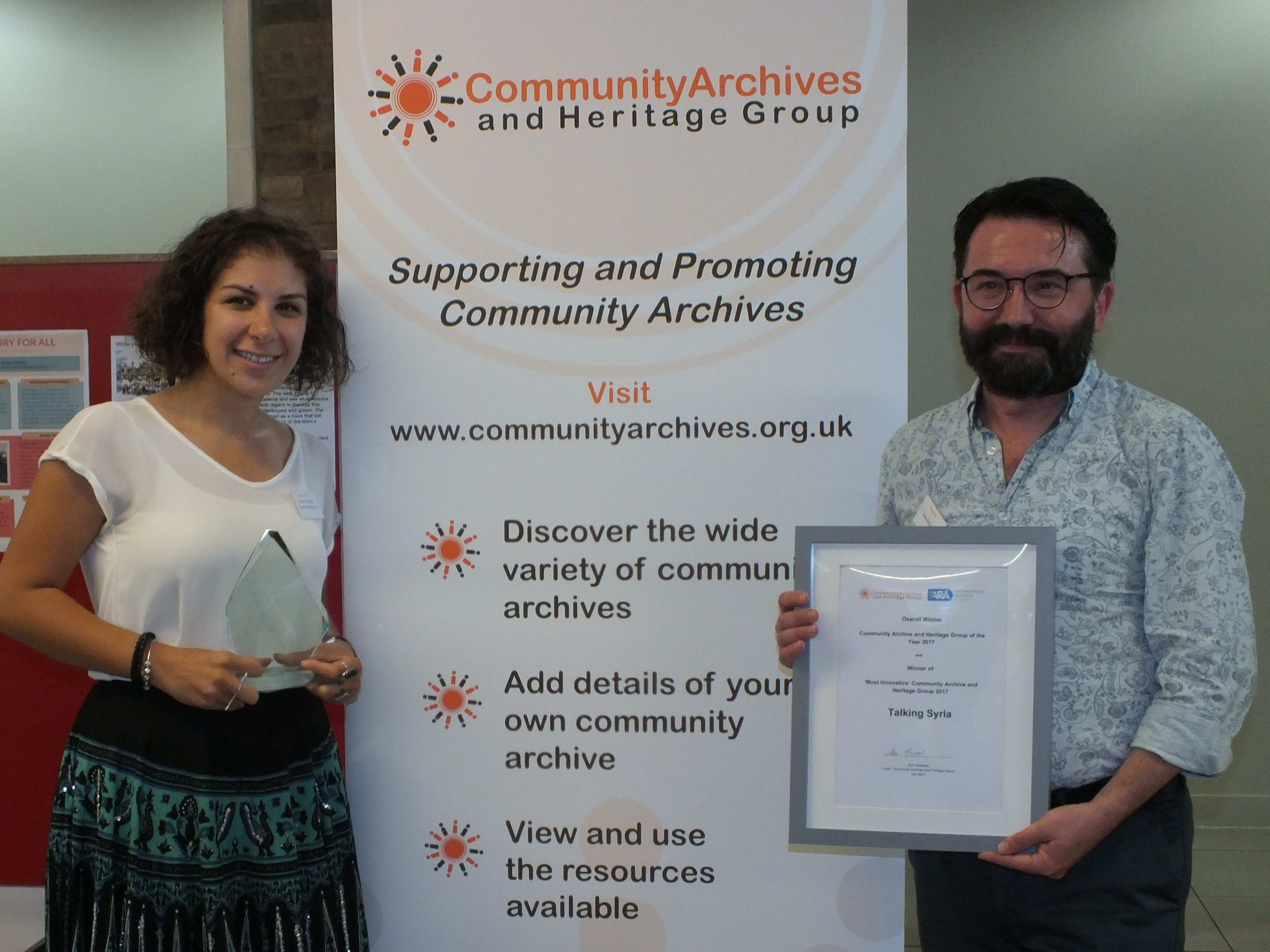 Community Archive & Heritage Award 2017- Winners Announced