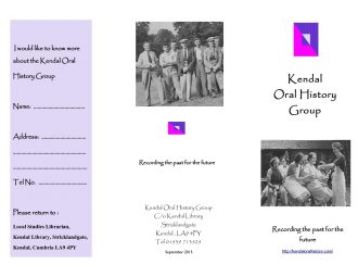 Kendal Oral History Group